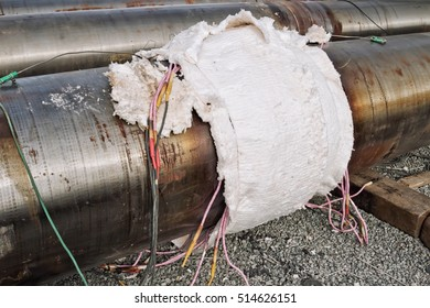 Local heat treatment of welded joints of pipes of large diameter chromemolybdenum steel