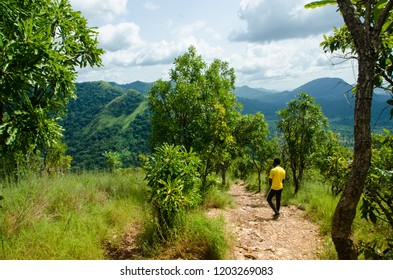 A local hiking mountain Afadjato, Volta Region, Ghana.