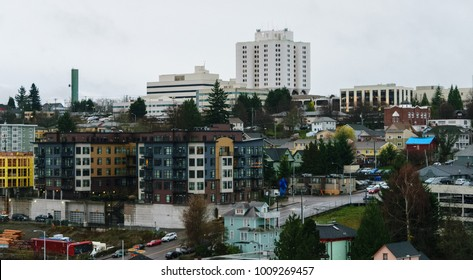 Local hospital in Tacoma Washington near Seattle in the Puget Sound of the Pacific Northwest of the USA