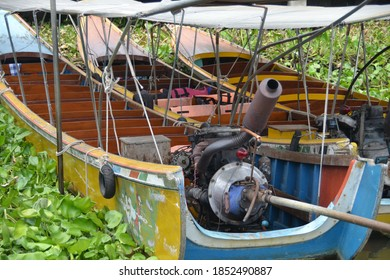 Local made speed boat in Chao phraya river in Bangkok Thailand.Shot on March24,2012.