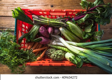 Local market fresh vegetable, garden produce, clean eating and dieting concept