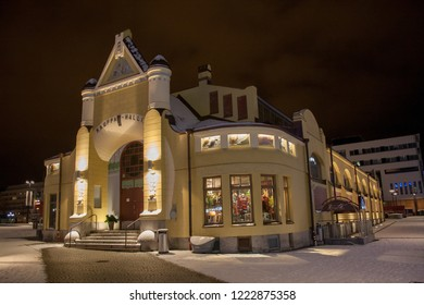 Local market hall (Kuopion kauppahalli) in center of Kuopio, Finland