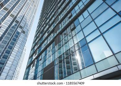 Local scenes of urban skyscrapers.