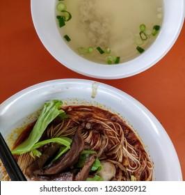 (Local Singaporean Food) Bak Chor Mee (Mince Pork Noodle) at BK Eating House, Clarke Quay, Singapore