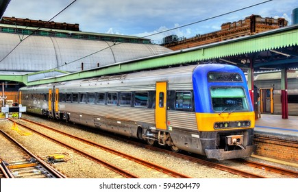 Local train at Sydney Central Station - Australia, New South Wales