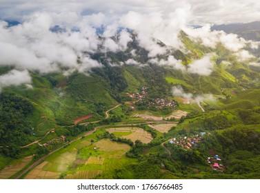 Local village locate in countryside of Sapan, Boklua Nan, Thailand.