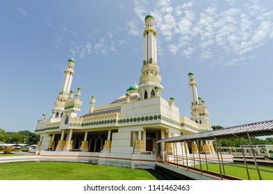 Local village mosque Masjid Kampong Tamoi in Bandar Sri Begawan, Brunei.