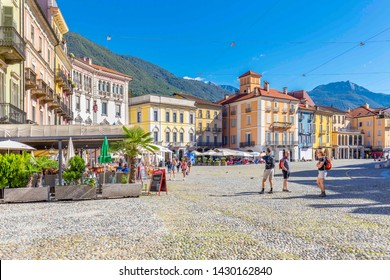 Locarno, Canton Ticino, Switzerland, 05 september 2017. View of Locarno city center, in canton Ticino district , Switzerland