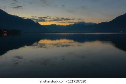 Locarno lake at night