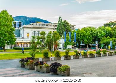LOCARNO, SWITZERLAND, JULY 25, 2017: Casino in the center of Swiss city Locarno