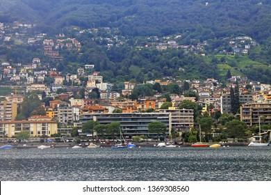 Locarno Switzerland on the shore of lake Maggiore