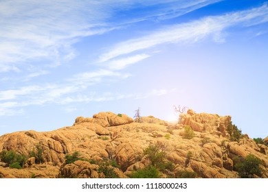 Located in the Prescott National Forest southeast of Prescott, Arizona.