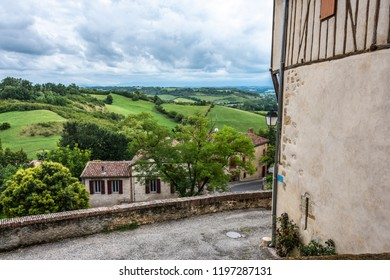 Located at the top of a hill the village of Saint Yvars allows us to see the French countryside in the Midi Pyrénées region. Ariege Le Fossat France