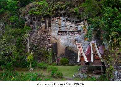 It located in Toraja District, Indonesia. I took this photo in 9/30/2018 At this Lemo cemetery, there are Tau-Tau that made of wood or bamboo and it carved as human figure to embody the human spirit.