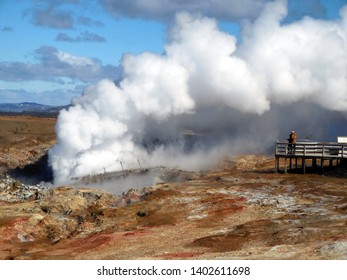 Located at the two ramps in Gunnuhver, Iceland and stands in the heart of the Reykjanes UNESCO Global Geopark.