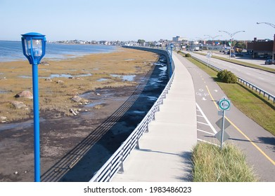 Located very close to the river, this city has a beautiful access to the shore. There is also a track for bicycles. .Rimouski, Quebec, Canada, September 2008