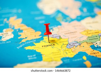 Map Of France Roads.Map Of France With Roads Stock Photos Images Photography