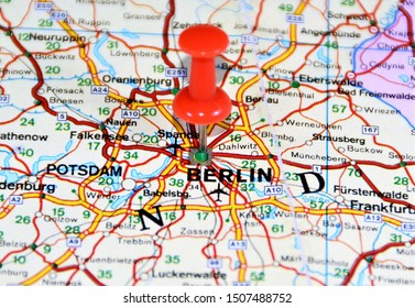 Location on the map of Berlin city in Germany