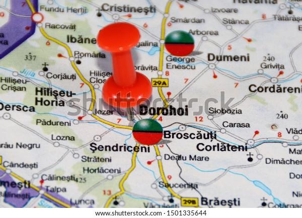 Location On Map Dorohoi City Romania Stock Photo (Edit Now ...