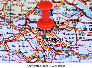 Switzerland Location Map Stock Photos, Images & Photography ...