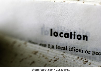Location word on a dictionary