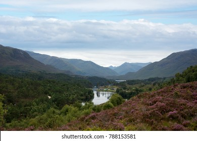 Loch Affric looking towards the mountain range in the West