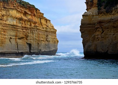 Loch Ard Gorge at Great Ocean Road.Beautiful landmark in Victoria,Australia.Dream destination for traveller.A famous collection of stone stacks off the shore of the Port Campbell National Park