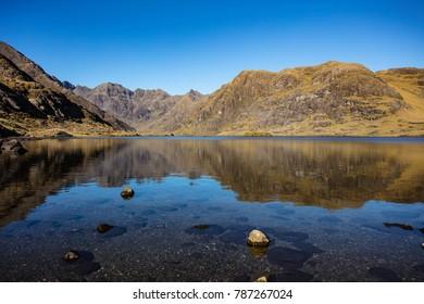 loch coruisk isle of skye, summer, reflection