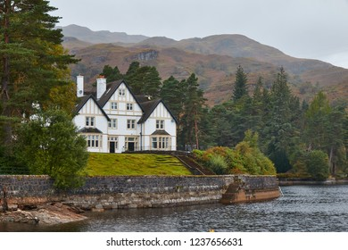 Loch Katrine, Perthshire, Scotland. October 2018. A Home on the side of Loch Katrine, in Perthshire.