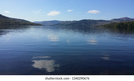Loch Katrine,Scotland-May 2016.This photo depicts the crystal clear waters of Loch Katrine, which is one of the freshwater Scottish lochs in the centre of Loch Lomond & The Trossachs National Park.