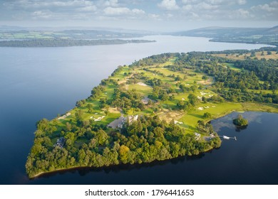 Loch Lomond, Argyll & Bute / Scotland, UK - August 12th 2020: Loch Lomond golf course re-opens following relaxation of covid-19 lockdown rules