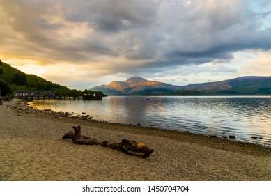 Loch Lomond from Luss shore, Highlands, Scotland
