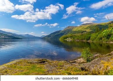 Loch Lomond at Rowardennan, Summer in Scotland, UK