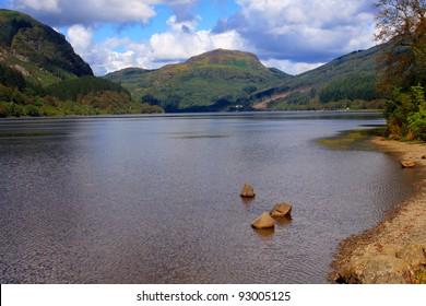 Loch Lubnaig, vista in the Scottish Highlands