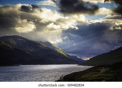 Loch Mullardoch in the Highlands of Scotland.