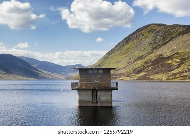 Loch Turret and Ben Chonzie in the Highlands, Perthshire in Scotland on a warm summers day,