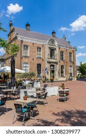 LOCHEM, NETHERLANDS - JUNE 28, 2018: Historic town hall on the market square of Lochem, Netherlands
