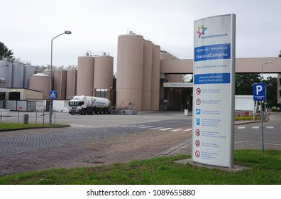 Lochem, the Netherlands. May 2018. A FrieslandCampina factory. Royal FrieslandCampina is a Dutch company specializing in dairy products.