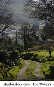 Lochranza,Isle of Arran,Scotland,UK.April/8th/2019. A spring view of Lochranza Castle on the Isle of Arran,Scotland.