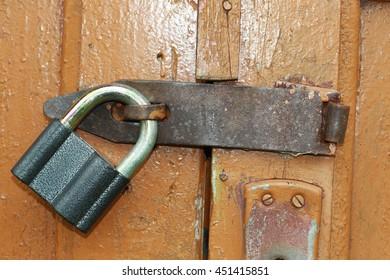 Lock at the door