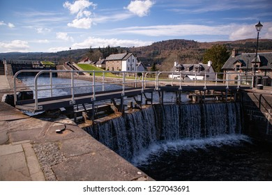 Lock Gates on the Caledonian Canal, Fort Augustus, Scotland