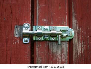 Lock on a barn in Jämtland Sweden