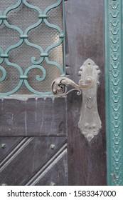 lock on an old door