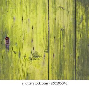 lock on yellow wooden door