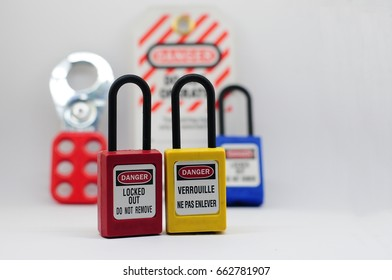 Lock out & Tag out,Lock out station , machine - specific lockout device and lockout point - Shutterstock ID 662781907