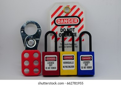 Lock out & Tag out,Lock out station , machine - specific lockout device and lockout point - Shutterstock ID 662781955