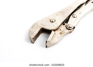 Lock pliers in isolated