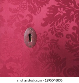 Lock and Red Fabric