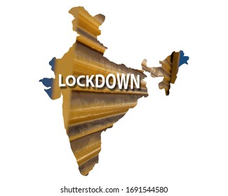 Lockdown India against Coronavirus or COVID-19 crisis for 21 days. India lockdown preventing covid19 epidemic and outbreak high resolution image.