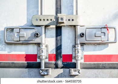 Locked truck doors